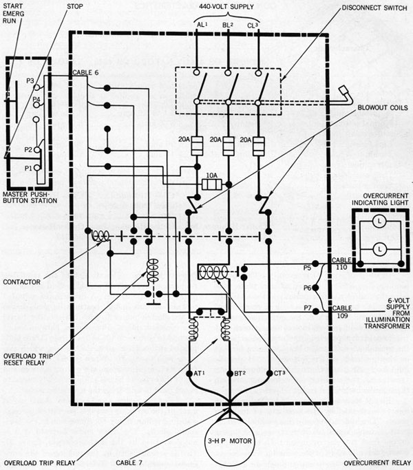 3 Phase Motor Start Stop Wiring Diagram Electrical Circuit