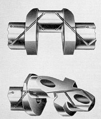 Figure 3-2. Sections of crankshaft showing oil