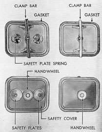 Figure 3-9. Crankcase handhole covers, GM.