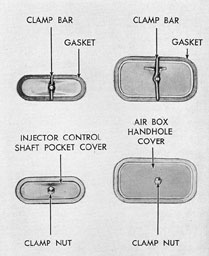 Figure 3-10. Injector control shaft and air box