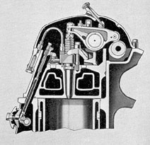 Figure 3-14. Cylinder head cross section through