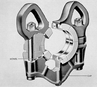 Figure 3-40. Upper crankshaft thrust bearing, F-M.