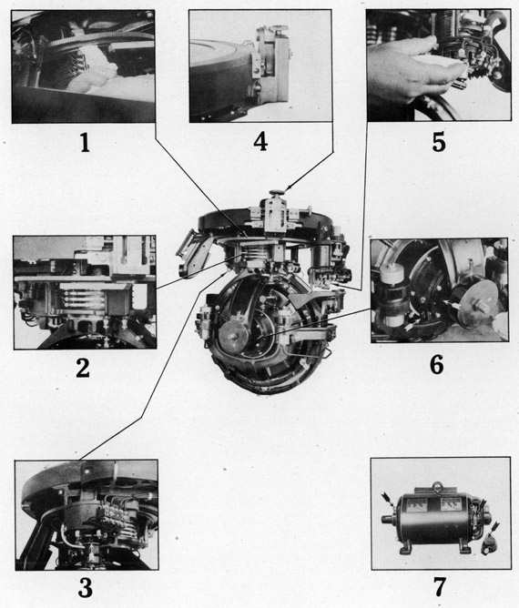 sperry gyrocompass mark 14 photos of lubrication points