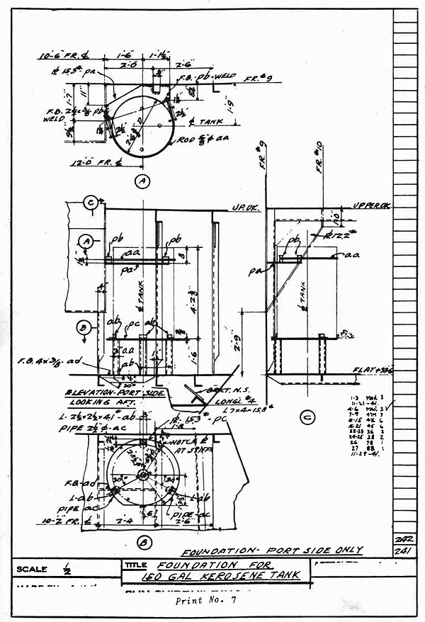 Shipyard outside machinist part 4 appendix index for How to read a foundation plan