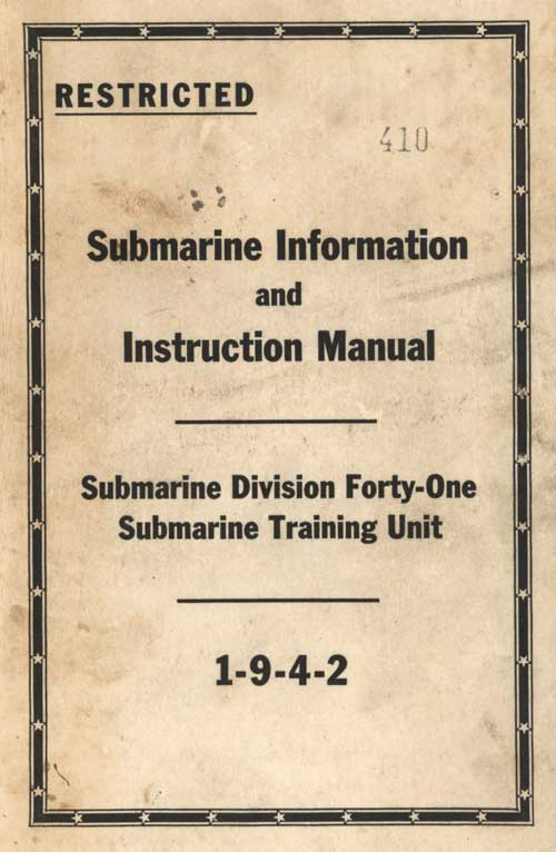 How To Test A Ballast >> Submarine Information and Instruction Manual