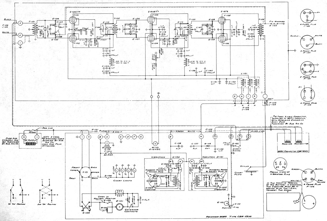 NAVAL SONAR - Figure 15-8. -Schematic wiring diagram of the NK-7 portable  depth recorder.maritime.org