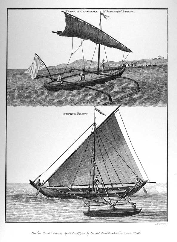 Bark of Cracoloa & Straits of Sunda, Flying Prow