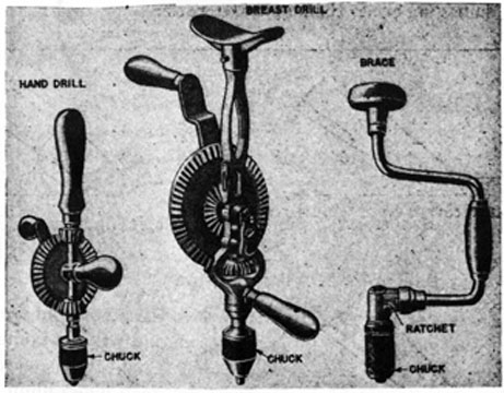 Hand Drill Drawing Hand Drilling Tools