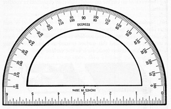 Printable Protractor Actual Size Template