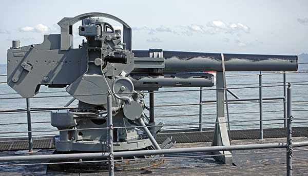USS PAMPANITO FIVE INCH 25 CALIBER WET MOUNT GUN RESTORATION