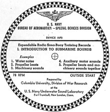 Manual for Expendable Radio Sono-Buoy Training Records