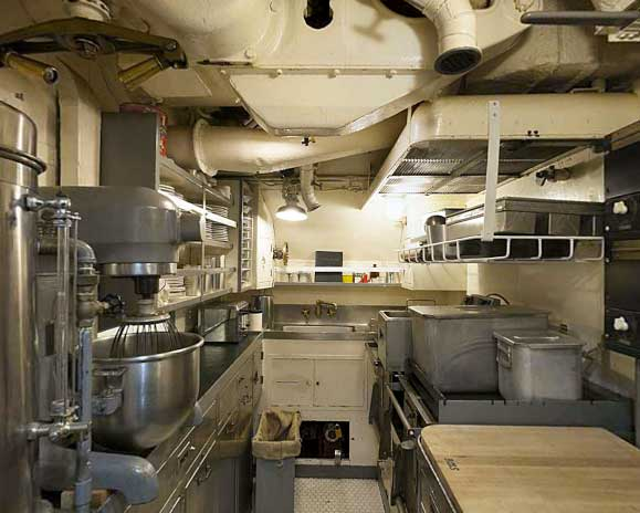 USS Pampanito Tour - Crew's Mess and Galley