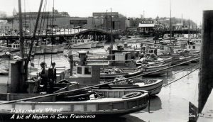 Fisherman's Wharf post card 1930