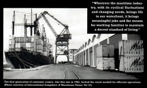 The first generation of container crane