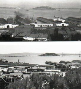 View from Telegraph Hill, 1946 & Today (notice missing ships)