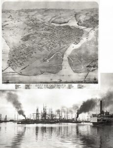 Oakland waterfront 1870